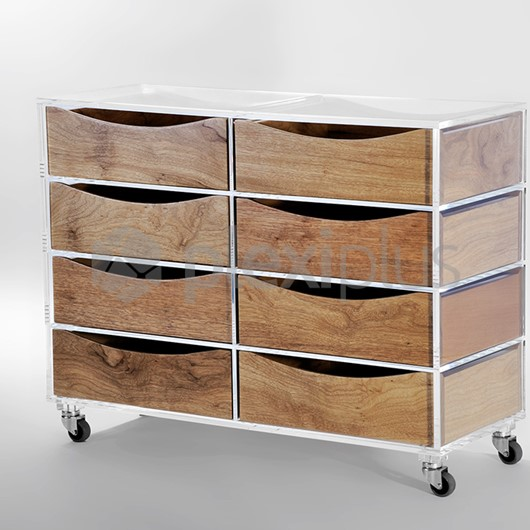 Storage LEGNO 8 drawers